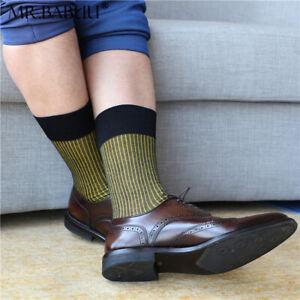 HOT NEW 1Pair Mens colorful striped thin cotton sheer fashion dress socks 0051