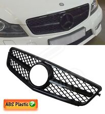 MERCEDES C CLASS W204 2007 UP AMG STYLE FRONT GRILLE BLACK BADGE INCLUDED 100%