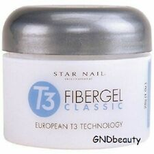Star Nail T3 Fiber Gel Classic European flexible sculpting gel Pink, Clear 1 oz
