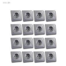 DELPHI 16 Pezzi Protezione contatto Presa di corrente argento 250V~ 16A