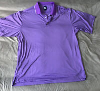 FOOTJOY  Mens XXL  Polo Shirt Golf Purple Stretchy  Breathable Striped Collar