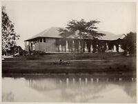 c.1870's PHOTO  THAILAND SIAM? WESTERN BUILDING