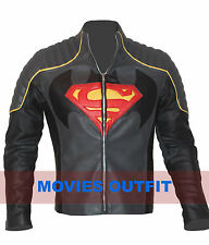 Batman vs Superman Dawn of Justice Mens Superhero Cosplay Costume Leather Jacket
