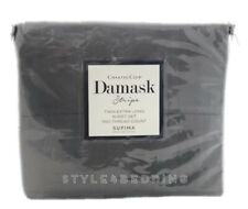 Charter Club Damask Stripe GRANITE GREY Twin XL 3 Pc Sheet Set 550 TC BRAND NEW