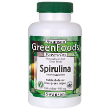 Swanson Spirulina 500 mg 180 Tabs