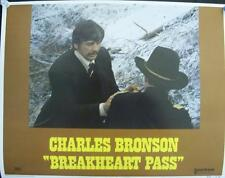 CHARLES BRONSON WESTERN BREAKHEART PASS ORIGINAL U.S. LOBBY CARD SET OF 8