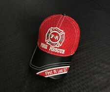 FIRE RESCUE FIREFIGHTER FIRST IN LAST OUT BASEBALL CAP
