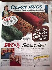 1941 Olson Old Rugs Carpets and Clothing Color Ad