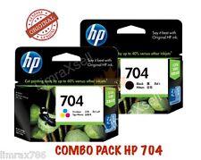 GENUINE HP 704 BLACK & HP 704 TRI COLOR ORIGINAL INK CARTRIDGE COMBO PACK -PROMO