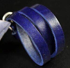 Triple Wrap Simple Cool Genuine Leather Bracelet Wristband Cuff Men's 5-Colors