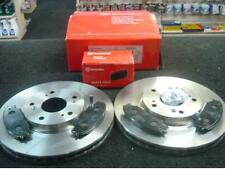 TOYOTA AVENSIS 2.0 D4D (T25) FRONT BRAKE DISCS AND BREMBO BRAKE PADS