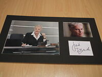Signed & Mounted Dame Judi Dench 'M' James Bond 007 Card & photo display- C.O.A.