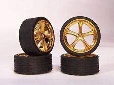 Hoppin Hydros 1/24 1/25 scale Gold Belaggio SLIM 20's Rims Wheels & Tires Model