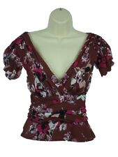 """NWT Karl Lagerfeld for Impulse Cap Sleeve Top """"Wine"""" Size 4  Retails$79"""