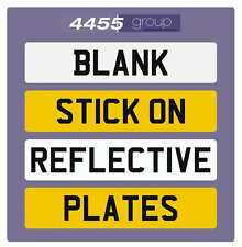SELF ADHESIVE REFLECTIVE BLANK NUMBER PLATE - STICK ON