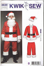 Mens Womens Unisex Santa Suit Hat Costume Sewing Pattern S M L XL XXL 36-48