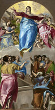 The Assumption of the Virgin (1579) by El Greco wall art poster print