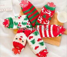 6 Pairs Pack Womens Christmas Warm Butter Soft Fuzzy Socks Crew Socks