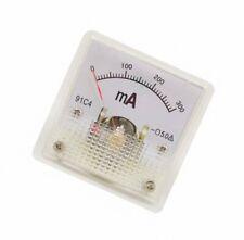 1pcs Class 2.5 Analog Panel AMP Current Meter DC0~300mA Ammeter Model 91C4 45*45