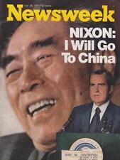 Newsweek: Nixon: I Will Go To China 7/26/71