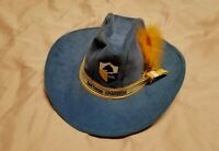 Vintage 60s NFL San Diego Los Angeles Chargers AJD Fitted Cowboy Hat Medium