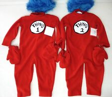 POTTERY BARN KIDS DR. SEUSS'S THING 1 ONE AND THING 2 TWO HALLOWEEN COSTUME 2/3