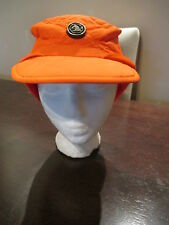 Vintage United Hatters Orange Winter Ski Hat Cap Made In USA Size 6 7/8
