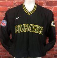 Vintage Reebok NFL ProLine Green Bay Packers Windbreaker Pullover Large (F16)