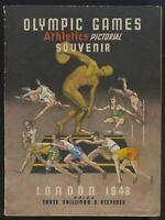 OLYMPIC GAMES ATHLETICS PICTORIAL SOUVENIR 1948
