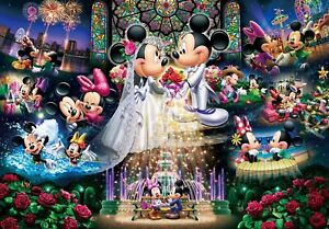 Tenyo X Disney Puzzle Mickey and Minnie Forever Promise Wedding Dream 1000pc