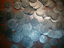 coin lots 10 good 2/6 half crowns in this bulk lot old  coins