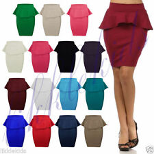 Polyester Knee Length Casual Petite Skirts for Women