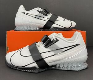 Nike Romaleos 4 White Black Weightlifting Shoes CD3463-101 Men's Size 12