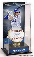 Kris Bryant Chicago Cubs Signed Baseball and Gold Glove Display Case w/ Image
