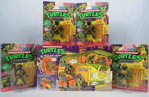 Lot 5 Playmates Teenage Mutant Ninja Turtles TMNT Figures Turtle Party Wagon Van