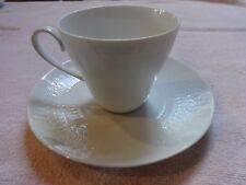 Rosenthal Continental ROMANCE WHITE Cup & Saucer Set with Embossed Ovals