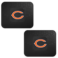 NFL Chicago Bears Car Truck 2 Back Utility All Weather Rubber Floor Mats