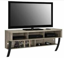 "Wall Mount Floating Media Console 60 "" TV Stand Storage Driftwood Gray Modern"