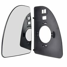 Right Driver side mirror glass with clip for Citroen Relay Jumper 1999-2005