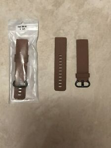 2 Pack Silicone Bands For Fitbit Charge 3 & 4 Coffee Color