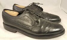FLORSHEIM IMPERIAL MAN SHOES OXFORDS LONGWING PEBBLED LEATHER SIZE 10.5 3E