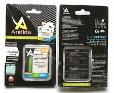 Batteria maggiorata originale ANDIDA 1650mAh x Nokia 3720 Classic