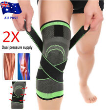 2x 3D Weaving Knee Brace Breathable Sleeve Support fr Running Jogging Sports Pad