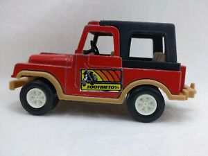 Tootsie Large Toy Jeep CJ 7 Truck Red