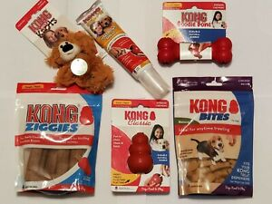 NEW KONG DOG BOX 6 ITEMS FOR SMALL DOGS
