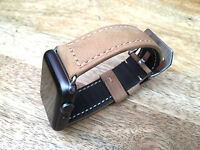 Vintage Tan Brown Leather Watch Strap Band For Apple Watch Series 1 2 3  38mm