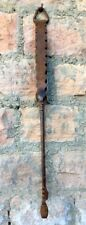 Old Iron Hand Forged Fine Carved Tribal Kitchen Fire Tong Big Size Tweezer