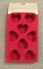 Waitrose Heart Silicone Cupcake Muffin Mounds (8 Moulds) NEW Valentines
