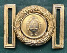 Vintage buckle bronzed brass ceremonial uniform belt Officers Argentine Army