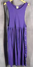 LL Bean Large Petite Purple Cotton Knit Sleeveless Long Dress